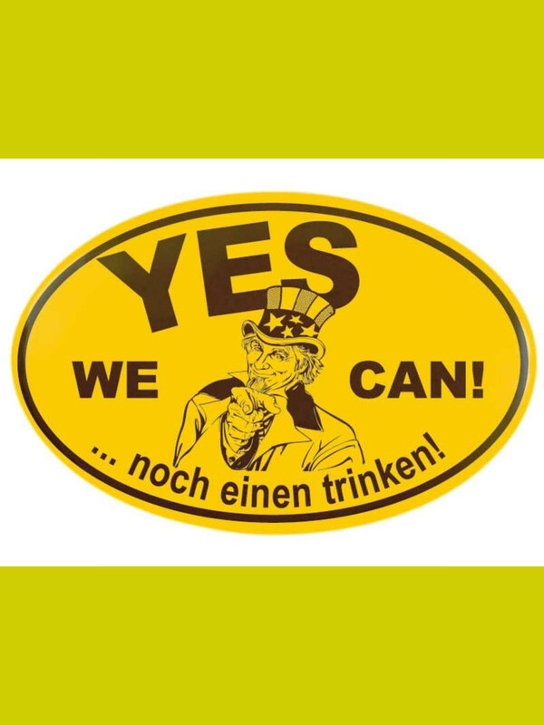 Magnet Flaschenöffner Ortsschild Design YES WE CAN