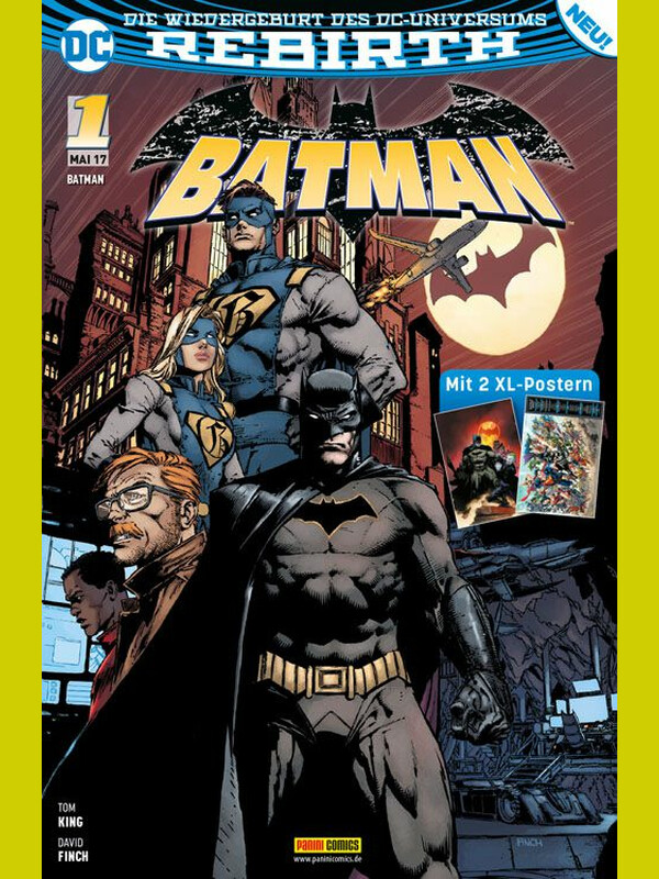 BATMAN 1  Rebirth - ( Mai 2017 ) (mit 2 XL Poster)