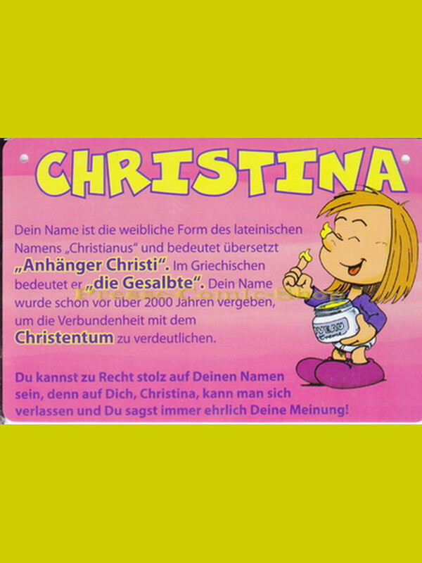 Postkarte / Namensschild - Christina