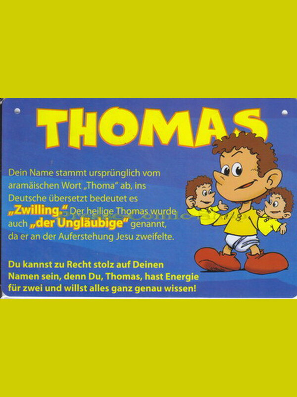 Postkarte / Namensschild - Thomas
