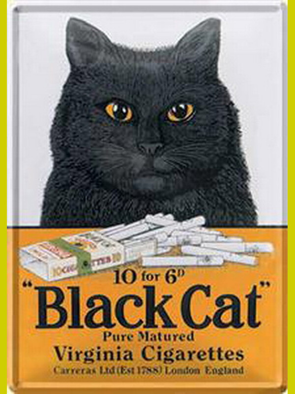 Metal Cards  Black Cat